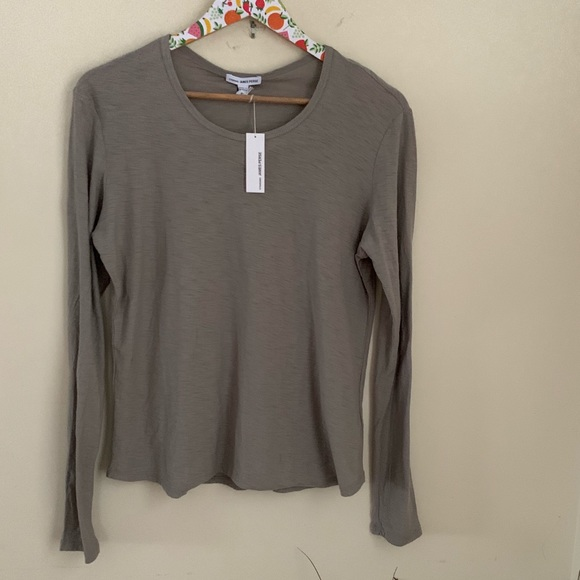 234a377ed James Perse Crewneck Modal cotton hatched jersey 4